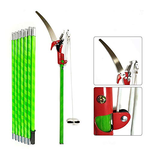 26 Foot Length Tree Pole Pruner Tree Saw Manual Pole Saws Extendable Yard Cutter Trimmer Tool Garden Tools Heavy-Duty Orchard Pruning