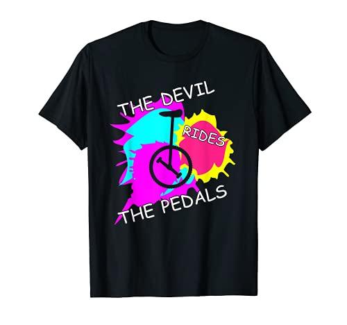 Mädchen und Jungen Einradfahrer mit Unicycle und Einrad T-Shirt