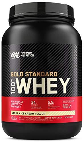100% WHEY PROTEIN GOLD STANDARD (907G) - OPTIMUM NUTRITION - Baunilha