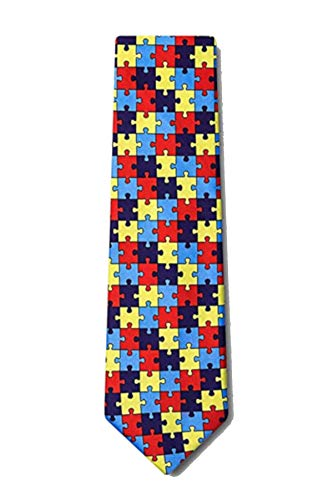 Boy's Help Spread Autism Awareness Puzzle Symbol Novelty Necktie Tie