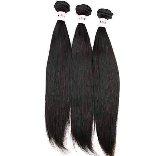 Noble Reine tissage cheveux raides cheveux Péruviens vierges naturels non traités Extensions capillaires Cheveux Naturels 25,4 cm à 76,2 cm 3 extensions de cheveux Trames Noir