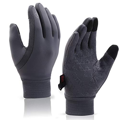 Koxly Winter Gloves Men Women Touch Screen Glove Warm Gloves Anti-Slip Windproof Waterproof Texting Gloves for Running Cycling