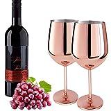 D L D 2 vasos de vino de acero inoxidable rojo de metal irrompible para cócteles, sin BPA, para cócteles, cócteles, cócteles, cócteles, cócteles, cócteles, cócteles, cócteles, etc.