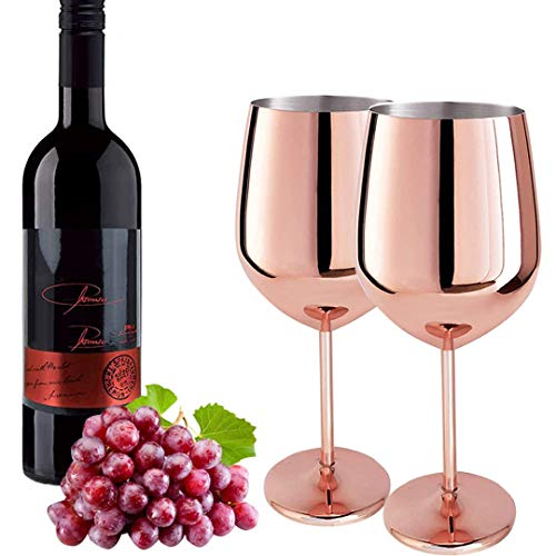 D L D 2PCS Stainless Steel red Wine Glass Metal Wine Glass Unbreakable White Wine Cocktail Glass Unbreakable BPA-Free Goblet Juice Drink Champagne Goblet Party bar Accessories