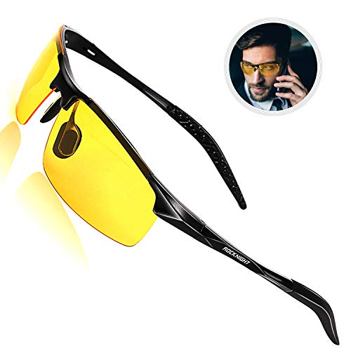 ROCKNIGHT Driving Polarized Night Vision Glasses UV 400 HD Yellow Sunglasses