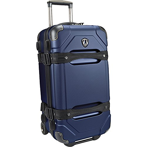 Traveler's Choice Maxporter 24 Inch Rolling Trunk Luggage, Merlot (Navy)