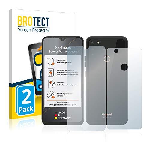 BROTECT 2X Entspiegelungs-Schutzfolie kompatibel mit Gigaset GS4 (Vorder + Rückseite) Bildschirmschutz-Folie Matt, Anti-Reflex, Anti-Fingerprint