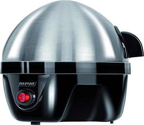 MPM MGJ-01 MGJ-01M Elektrischer Eierkocher für 7 Eier aus Edelstahl, Einstellung der Kochzeit, Überhitzungsschutz, 350 W, BPA-frei, 300 W, 0 Dezibel, 3 Geschwindigkeiten, Grau