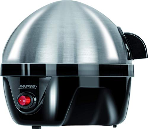 Mpm Mgj-01 MGJ-01M Cuece Eléctrico para 7 Huevos de Acero Inoxidable, Ajuste de Cocción, Protección por sobre Calentamiento, 350W, Libre de BPA, 300 W, 0 Decibeles, 3 Velocidades, Gris