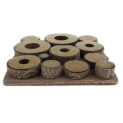 Tubayia Laberinto de cartón corrugado juguete para hámsters, chinchillas, conejos