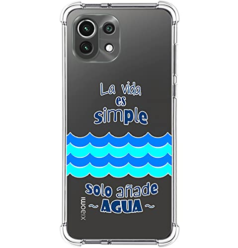 Funda Silicona Antigolpes para Xiaomi Mi 11 Lite 4G / 5G diseño Agua Dibujos
