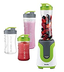 Ideal for the gym, work, school and days out - Just Blend and Go One touch blending for smoothies, shakes, slushies, and protein drinks 2 x 600 ml and 2 x 300 ml BPA-free bottles for all the family Detachable dishwasher safe blades and bottle 300 W m...
