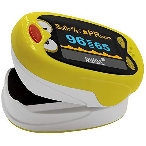 Pulox PO-210B Kinderpulsoximeter Pulsoximeter für Kinder Fingeroximeter Sauerstoffsättigung Messgerät SpO2 und Puls Messung
