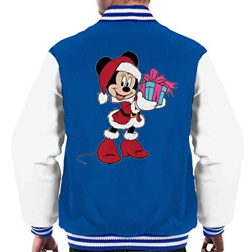 Disney Christmas Minnie Mouse Festive - Disfraz de nia azul, blanco XXL