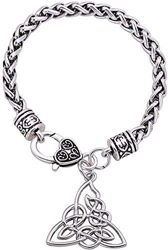 WSBDZYR Co.,ltd Necklace Fashion Design Pendant Bracelet Nordic Jewelry Wheat Chain Silver for Men Birthday Gift 20Cm Ladies Bangle Sister