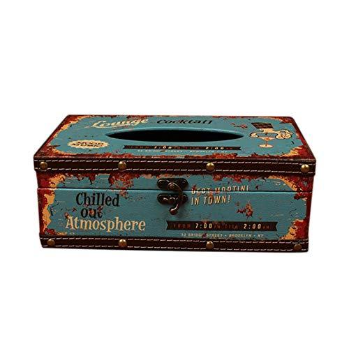 Hosaire 1x Vintage Cocktail Kosmetiktücherbox Restaurant Auto Taschentuchbox Taschentücherbox Aufbewahrungsbox Dekoration