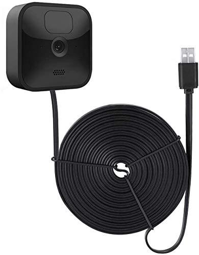 Wasserstein Wetterfestes Stromkabel für Blink XT2 Außen- und Innen-Kamera, langes und dünnes 4,8 m langes Kabel zur kontinuierlichen Bedienung Ihrer Blink XT2 & Innen-Kamera, Schwarz