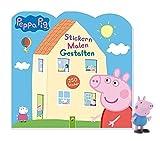 Buchspielbox Peppa Pig - Adesivi per pittura a mosaico, 250 adesivi + 1 personaggio Peppa