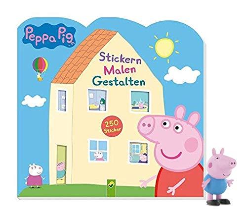 Schwager & Steinlein Verlag Peppa Pig Stickern Malen Gestalten: 250 Sticker + 1 Peppa Spielfigur