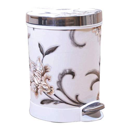 Estilo Retro Pequeña Basura de Basura, Basura Decorativa Puede desperdiciar residuos de Papel for baño, Dormitorio, Oficina y más (Color: c) kshu (Color : C)