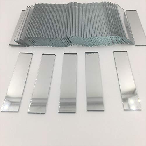 RUINUO - Espejo rectangular para manualidades (5/8' x 2', 60 unidades)