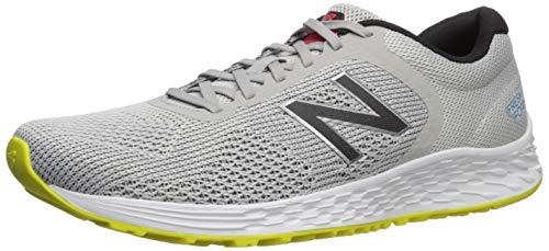 New Balance Men's Arishi V2 Fresh Foam Running Shoe, Light Aluminum/Black, 14 D US