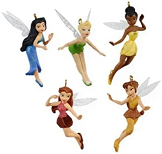 Tinker Bell and Friends Pixie Hollow 5pc set 2009 Hallmark Miniature Ornaments QXM9102