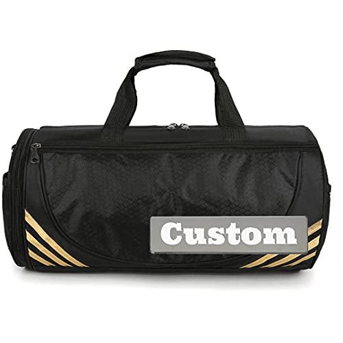 Nombre Personalizado Personalizado Big for Women Duffle Bag Hombres Camping Plegable de Lona (Color : Negro, tamaño : One Size)