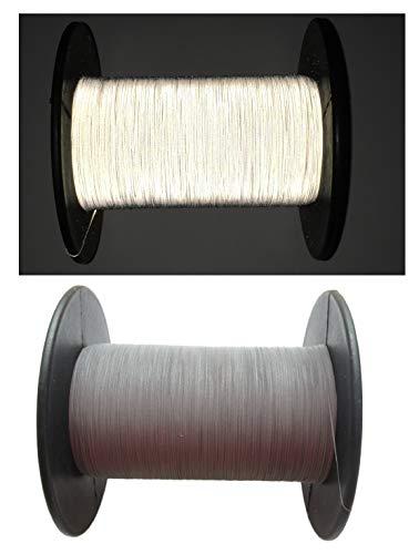 MinaP 500METER Reflektierender Faden/REFLEXGARN Silber – Reflexstoff-Faden zum Nähen – Garn für Reflektor-Kleidung auf Rolle
