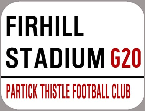 PARTICK THISTLE F.C. METAL STREET SIGN 28cm x 19cm. OUTSIDE OR INSIDE USE