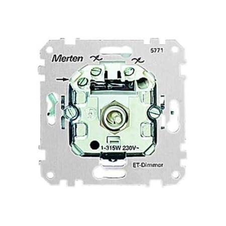 20-500 VA lichtgrau MERTEN 572529 Einbau-NV-Halogen-Dimmer für induktive Last