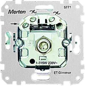 Merten 577199 ET-Dimmer-Einsatz für kapazitive Last, 20-315 W