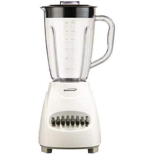 Great Features Of BRENTWOOD JB-220W 12-Speed Blender, Plastic Jar (White)