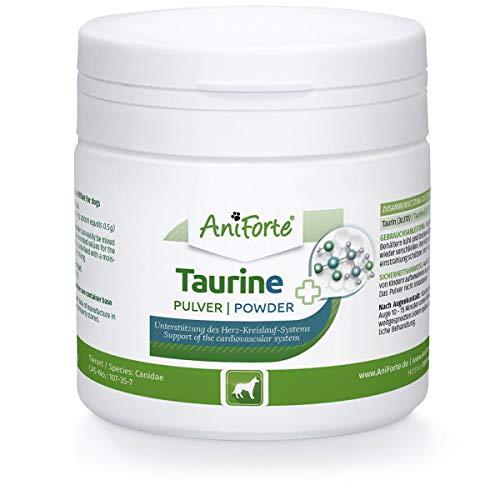 AniForte Taurin für Hunde - 100% reines Taurin, essentielle Aminosäure, Unterstützung Abwehrkraft & Zellstoffwechsel, Erhaltung Herzfunktion & Herzkreislaufsystem, wertvolle Futterergänzung (100g)