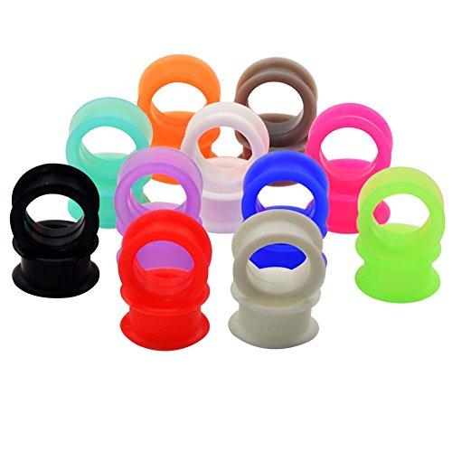 Longbeauty - Tapones de silicona para orejas de túnel en 2 estilos