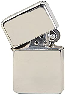 Thirsty Rhino Klik, Windproof Refillable Oil Wick Lighter with Vintage Flip Top and Aluminum Gift Case