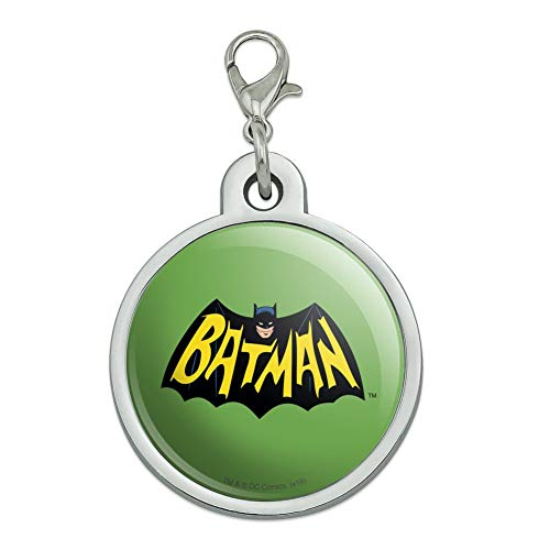 GRAPHICS & MORE Batman Classic TV Series Logo Chrome Plated Metal Pet Dog Cat ID Tag