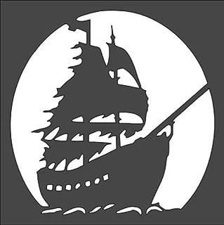Custom Stencil Transportation Pirate Ship 5.5 x 5.5
