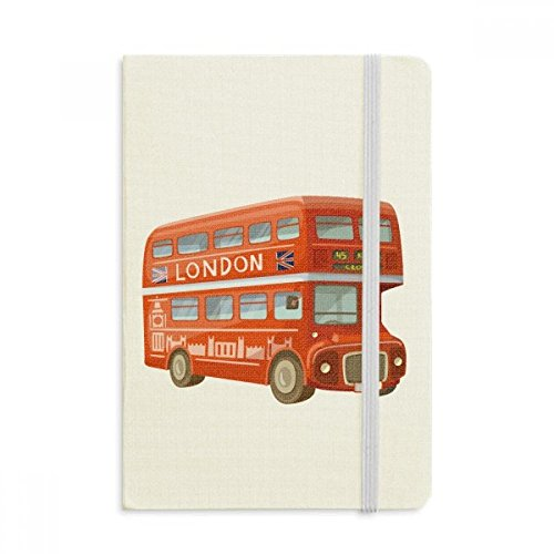 DIYthinker Britain UK London Red Double Decker Bus Notebook Stof Hard Cover Klassiek Dagboek A5 A5 (144 X 210mm) Multi kleuren