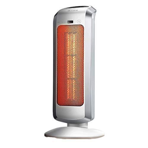JCX Ventilatorkachel, keramische ventilator, thermostaat met 3 toerentalregelaars, schakelbare oscillatieverwarmer met zuil, intelligente staande ventilator