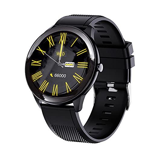 LKXL Smartwatches Recordatorio Elegante de la Llamada de Bluetooth del Tacto Completo Que Camina la Pulsera Redonda de los Deportes de la Pantalla