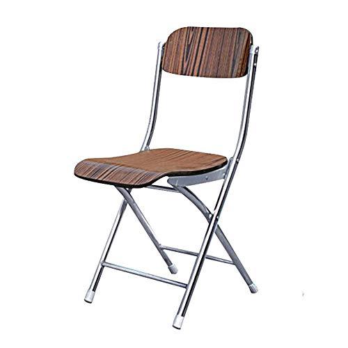 QuRRong Silla Plegable Retro Simple Soporte Doble Silla Plegable cómoda Silla de Oficina Plegable e
