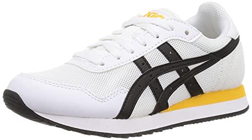 ASICS Tiger Runner, Zapatillas para Correr de Carretera Hombre, Blanco y Negro, 45 EU