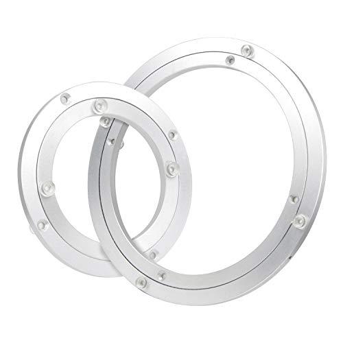 DBREAKS Plato giratorio para mesa de TV, plato giratorio Lazy Susan para mesa de comedor (250 x 10 mm de diámetro) de aluminio