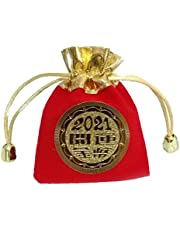 NaiCasy Koperta noworoczna czerwona koperta rok wół torba na szczęście w zestawie 2021 na prezent na Nowy Rok dekoracja
