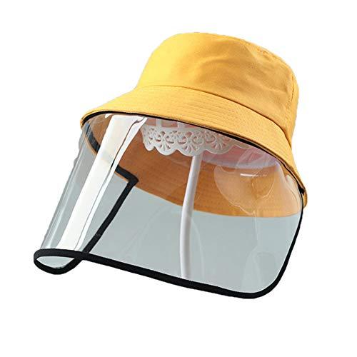 LXFMZ Kinderschutzkappe, Anti-Speichel und Tropfkappe, einstellbare Größe Wasser- und staubdicht Sonnenschutz Hut Fischers Sonnenhut,C,48cm