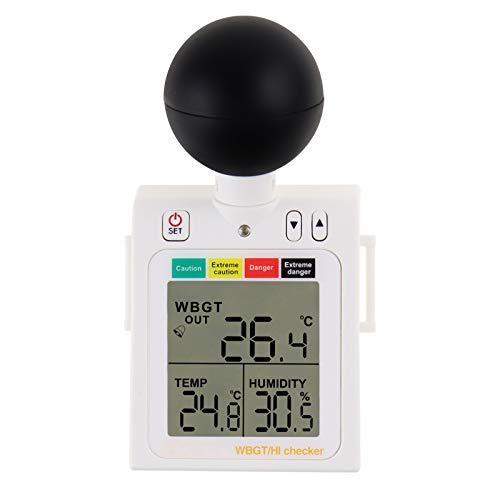 WBGT + HI Calor Inspector Calor Estrés Metro Mojado Bulbo Globo Temperatura Humedad Usable Ensayador