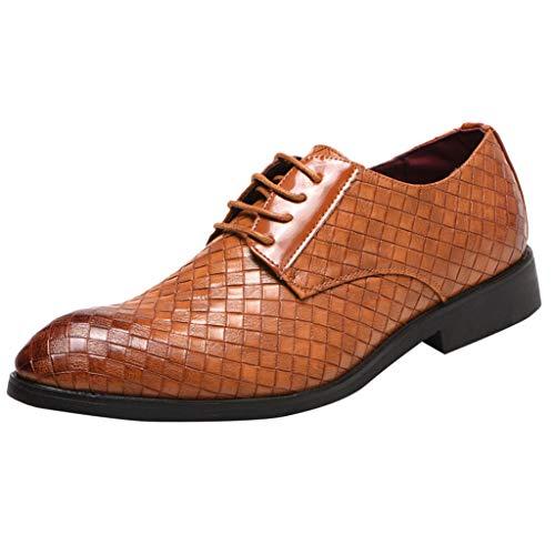 Floweworld Herren Formal Dress Schuhe Casual England Oxfords Schuhe Business Schuhe Leder Hochzeitsschuhe