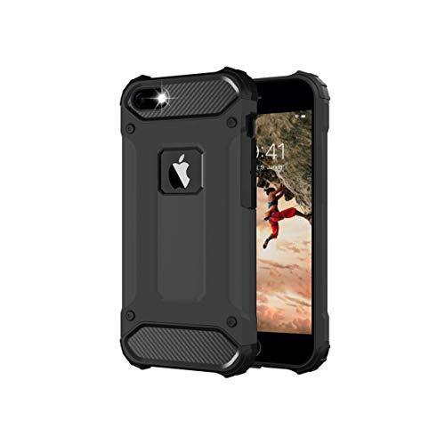 BYONDCASE iPhone 5s Hülle Schwarz, iPhone 5 Hülle, iPhone SE Hülle 2016 [iPhone 5 Outdoor Case Panzer Hardcase] Hybrid Rundumschutz Ultra Slim kompatibel mit dem iPhone 5 / 5s / SE 2016 Case