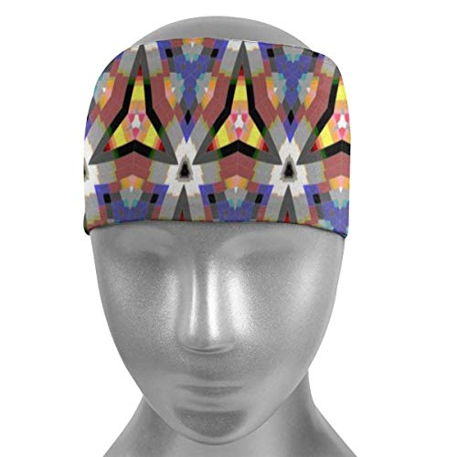 ZWHSY Venda Triangle Decorative Flowers Pattern Soft Sports Headbands,Wicking Stretchy Quick Dry Breathable Sweatband,Non Slip Absorbing Moisture Elastic Head Band for Men Women